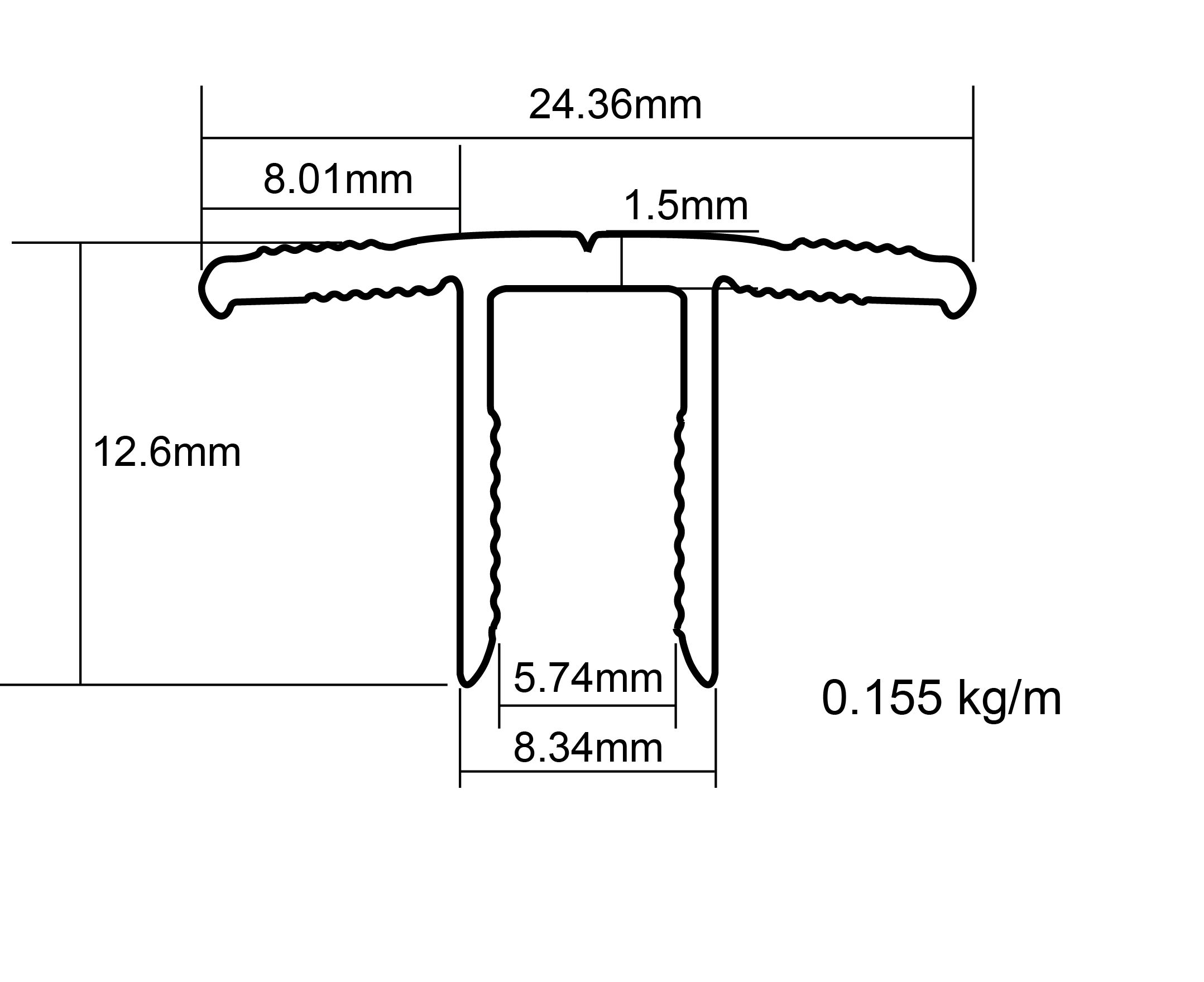 T Bar Profile