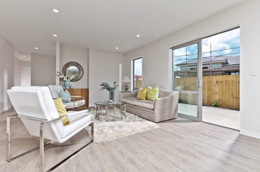 Concrete Wood Light Grey Laminate Flooring Interior15